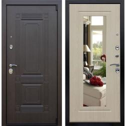 Входная дверь с Зеркалом АСД Викинг (Венге / Белёный дуб)