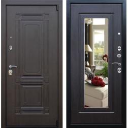 Входная дверь с Зеркалом АСД Викинг (Венге / Венге)