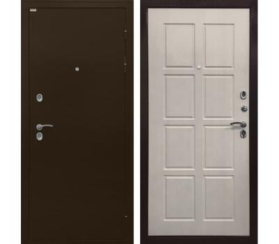 Входная уличная дверь с терморазрывом Ратибор Термоблок 3К (Медный антик / Лиственница беж)