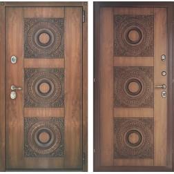 Входная металлическая дверь Персона Евро-3 (Орех грецкий)