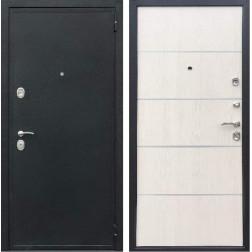 Входная дверь Персона Евро-2 Конструктор (Чёрный шёлк / Лиственница беж)