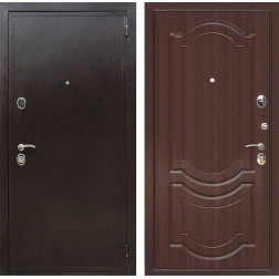 Входная металлическая дверь Персона Евро Грация (Медный антик / Орех тисненный)