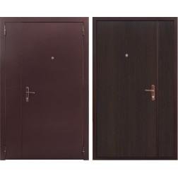 Тамбурная двухстворчатая дверь (Антик медный / Венге)