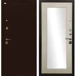 Входная дверь Ратибор Оптима 3К с зеркалом (Лиственница беж)