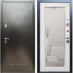 Входная дверь Армада 5А с зеркалом Пастораль (Антик серебро / Ясень белый)
