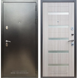 Входная дверь Армада 5А СБ-14 (Антик серебро / Сандал белый)