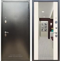Входная дверь Армада 5А СБ-16 с большим зеркалом (Лиственница беж и Венге)