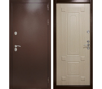Входная уличная дверь с терморазрывом Термаль Ультра (Дуб белёный)
