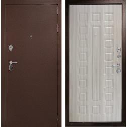 Входная дверь ДК Гарант-1 3К (Медный антик / Сандал белый)