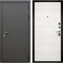 Входная металлическая дверь Дива МД-39 (Графит софт / Белый софт)