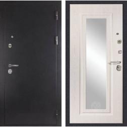 Входная дверь Дива МД-26 с зеркалом (Антик серебро / Дуб белёный)