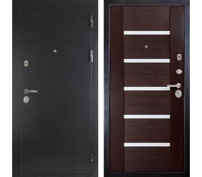Входная металлическая дверь Дива МД-05 (Антик серебро / Орех темный)
