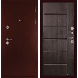 Входная металлическая дверь Дива С-503 (Антик медный / Венге)
