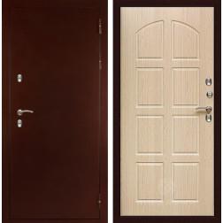 Уличная дверь с терморазрывом Дива МД-100 (Антик медный / Дуб беленый)