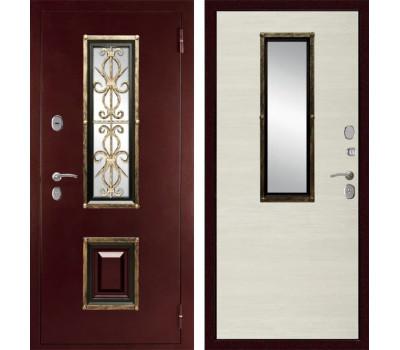 Входная уличная дверь Дива К-04 (Антик медный / Клён канадский светлый)