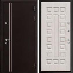 Уличная входная дверь с терморазрывом Норд Стандарт (Муар коричневый)