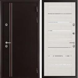 Уличная дверь с терморазрывом Норд Лайт 2125 (Муар коричневый)