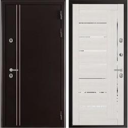 Уличная входная дверь с терморазрывом Норд Лайт 2110 (Муар коричневый)