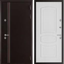 Уличная входная дверь с терморазрывом Норд Анастасия 3D (Муар коричневый)
