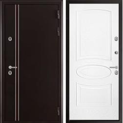 Уличная входная дверь с терморазрывом Норд Оливия (Муар коричневый)