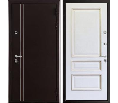Уличная входная дверь с терморазрывом Норд Вена Классик (Муар коричневый)