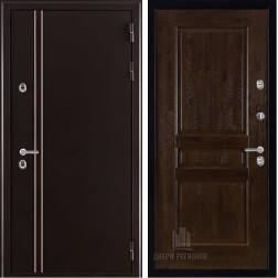 Уличная входная дверь с терморазрывом Норд Виктория (Муар коричневый)