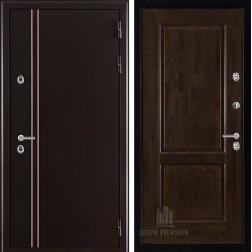 Уличная входная дверь с терморазрывом Норд Селена (Муар коричневый)