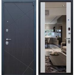 Входная металлическая дверь АСД Вектор с зеркалом (Белая лиственница)
