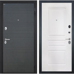 Входная металлическая дверь Интекрон Спарта (Венге / Белая матовая)