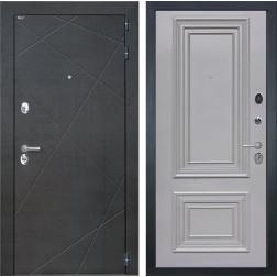Дверь Интекрон Сенатор Лучи Сан Ремо 1 (Венге распил кофе / Пыльно-серый)
