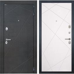 Входная дверь Интекрон Сенатор Лучи (Венге распил кофе / Софт Милк)