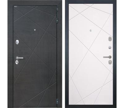 Входная металлическая дверь Интекрон Сенатор Лучи (Венге распил кофе / Софт Милк)