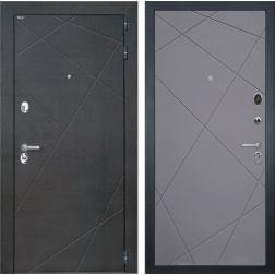 Входная дверь Интекрон Сенатор Лучи (Венге распил кофе / Софт Графит)