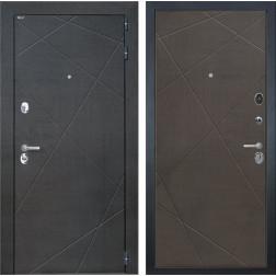 Входная дверь Интекрон Сенатор Лучи (Венге распил кофе / Венге распил кофе)