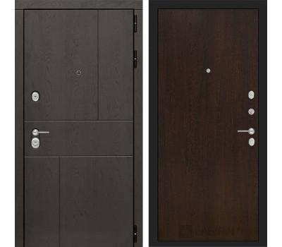 Входная металлическая дверь Лабиринт Урбан 5 (Дуб горький шоколад / Венге)