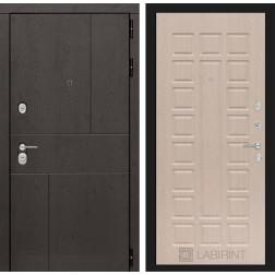 Входная металлическая дверь Лабиринт Урбан 4 (Дуб беленый)