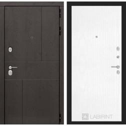 Входная металлическая дверь Лабиринт Урбан 7 (Белое дерево)