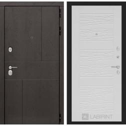 Входная металлическая дверь Лабиринт Урбан 6 (Белое дерево)