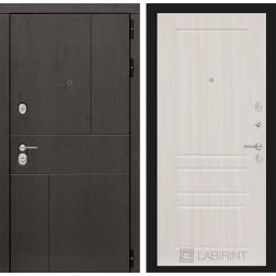 Входная металлическая дверь Лабиринт Урбан 3 (Сандал белый)