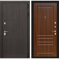 Входная металлическая дверь Лабиринт Урбан 3 (Орех бренди)