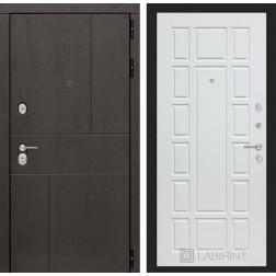Входная металлическая дверь Лабиринт Урбан 12 (Белое дерево)