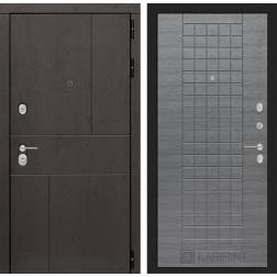 Входная металлическая дверь Лабиринт Урбан 9 (Лен сильвер грей)