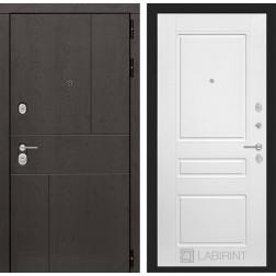 Входная металлическая дверь Лабиринт Урбан 3 (Белый софт)