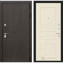 Входная металлическая дверь Лабиринт Урбан 3 (Крем софт)