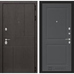 Входная металлическая дверь Лабиринт Урбан 11 (Графит софт)