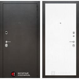 Входная дверь Лабиринт Сильвер 7 (Антик темное серебро / Белое дерево)