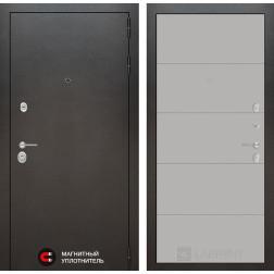 Входная дверь Лабиринт Сильвер 13 (Антик темное серебро / Грей софт)