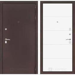 Входная дверь Лабиринт Классик 13 (Антик медный / Белый софт)
