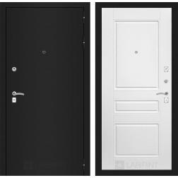 Входная дверь Лабиринт Классик 3 (Шагрень черная / Белый софт)