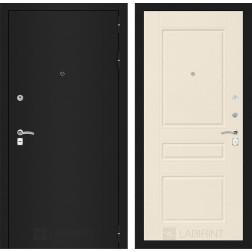 Входная дверь Лабиринт Классик 3 (Шагрень черная / Крем софт)
